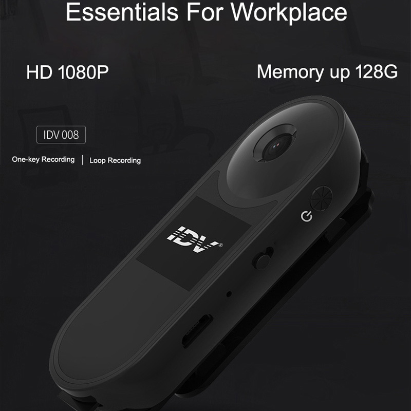 HD 1080P <font><b>Police</b></font> Body Lapel Worn Video MINI Camera DVR Mini DV Digital Pen Voice Recorder Camcorder Memory up to 128G Magnet image