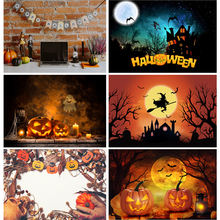 Фоны для фотосъемки shuozhike на Хэллоуин замок ворота призрак