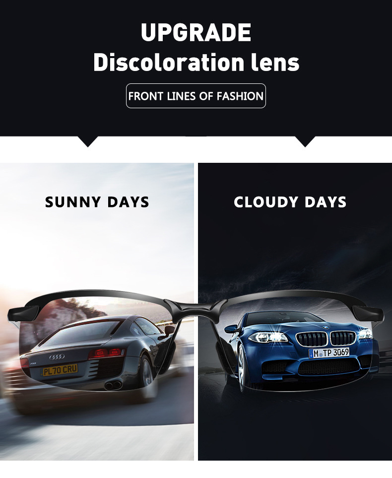 Photochromic Sunglasses Men Polarized Chameleon Glasses Male Change Color Sun Glasses Day Night Vision Driving Eyewear uv400 Hfa5d01fc2f844030aac5f018b024c0a2l