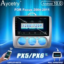 PX6 Radio de coche 2 Din Android 10 Multimedia reproductor de vídeo autoradio para ford focus 2 Mk2 2004 2011 estéreo navegación GPS radio coche pantalla no 2din dvd