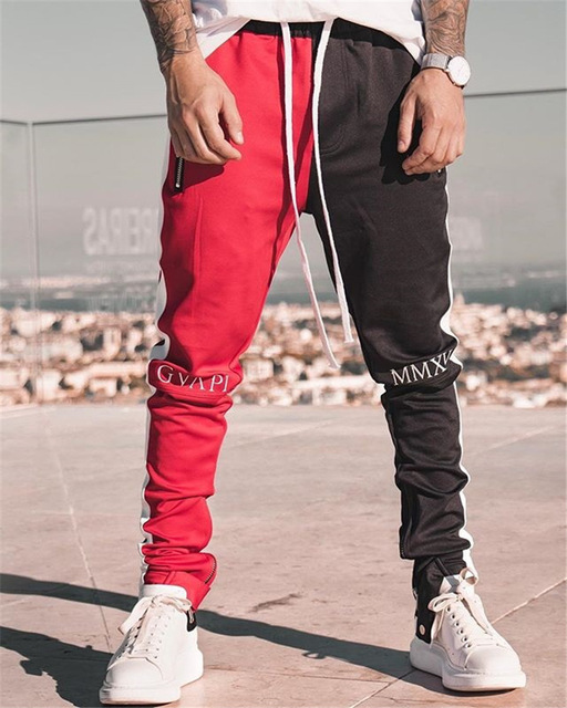 2020 New Spring Brand Gym Sport Pants Men Joggers Patchwork Fitness Bodybuilding Mens Running Pants Runners Clothing Sweatpants 5