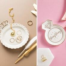 Ювелирный лоток для украшений Панель Мода керамическая подставка ожерелье креативные серьги