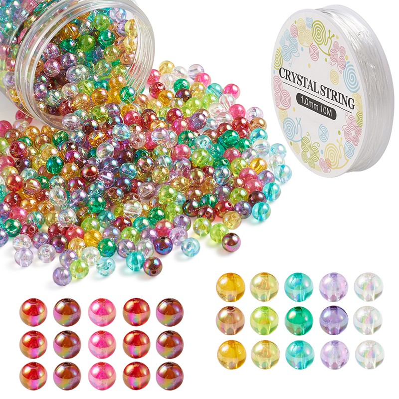 100PCS X 10MM MIXED COLOUR CLOVER SHAPED ACRYLIC BEADS FOR JEWELLERY MAKING