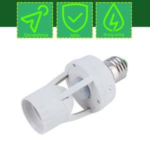Lamp-Holder Base Socket-Switch E27 Plug Motion-Sensor Led-Bulb 360-Degrees New Hot IR