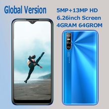 Globale Smartphones 10i 4 GRAMM 64G ROM 13MP Kamera Gesicht ID Entsperrt Android Handys Celulars Wasser tropfen Bildschirm 6,26 zoll