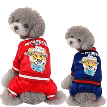 Pet Winter Dog Clothes Jumpsuit Warm Dog Coat Pet Puppy Clothes Chihuahua Shih Tzu Dog Outfits Winter Clothes for Small Dogs hipidog sheep pattern coral velvet parkas pet dog pants autumn winter thicken warm jumpsuit for chihuahua small dogs cat clothes
