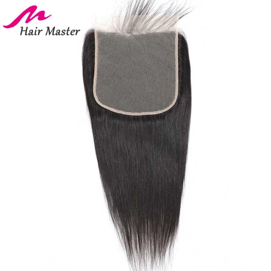 Hair Master 7x7 Closure Brazilian Straight Hair Lace Closure Remy Human Hair Closure With Baby Hair 8- 22 Inch Lace Closure