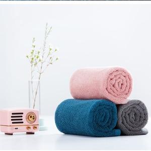 Image 2 - Zanjia Toalla de algodón de 32x70cm, 100%, 5 colores, fuerte absorción de agua, suave y cómoda, para playa y cara