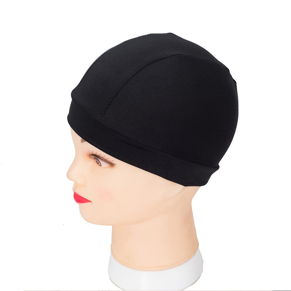 Factory Price Dome Cap Spandex Helmet Liner Sports FootBall Biker Beanie Hat Head Wrap Stretch Wig Caps For Making Wigs 20pcs
