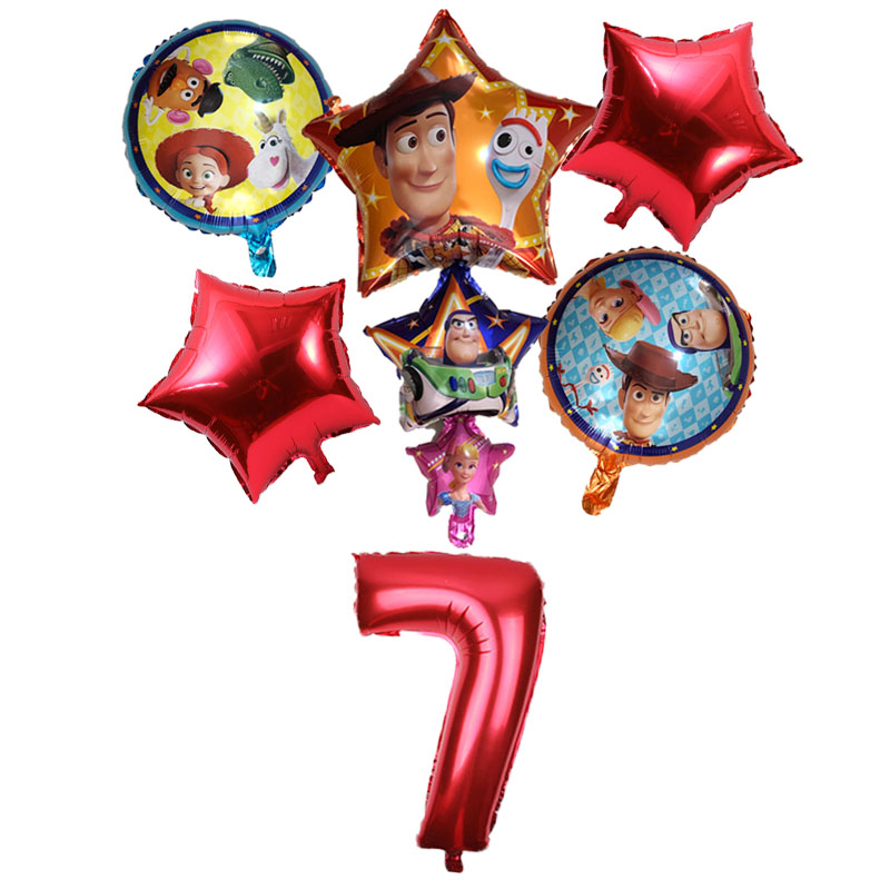 "Toy Story 4 Foil 18/"" Balloon star shape red"