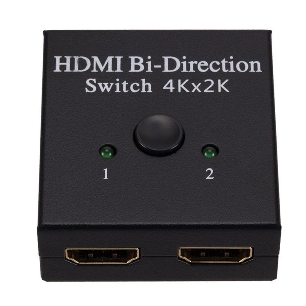 4K Bi-Direction HDMI 2,0 кабель переключатель сплиттер концентратор HDCP 2 в 1 Out 1 в 2 Out двусторонний сплиттер