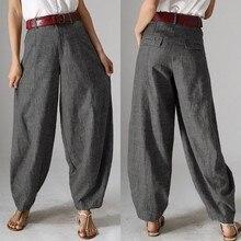Женские осенние брюки ZANZEA, повседневные мешковатые штаны-шаровары, винтажные Панталоны с молнией спереди, укороченные штаны для женщин, большие размеры