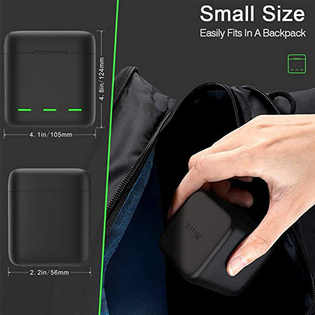 GoPro 9 Battery Charger 3 Way Smart Charging Case Go Pro Rechargeable 1750mAh Battery Storage Box For Gopro Hero 9 Accessories 6