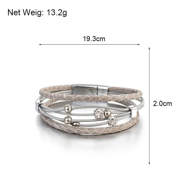 Leather Wrap Bracelet Bohemian Size Dimensions