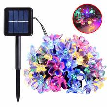 Светодиодный садовый светильник на солнечной батарее 7 м 50