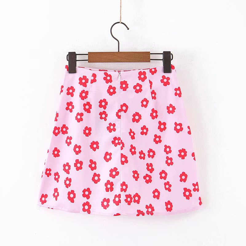 Hfa5e1f54a5dd4984b7458ed32ea40bb5L - Mini skirt elegant boho skirts womens high waist skirt floral satin skirt short kawaii skirts womens pink skirt A line
