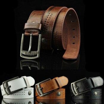 Men's Wide Pu-Leather Belts
