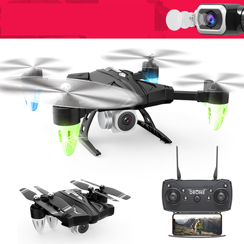 Foldable Drones With Camera Hd Remote Control Quadcopter Aerial Photography Long Life FPV Real-time Transmission RC Helicopter