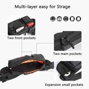 Image 5 - Сумка Кроссбоди MOYYI Мужская водонепроницаемая, повседневная сумочка на ремне для занятий спортом, нагрудной мешок на молнии, многослойная поясная сумка