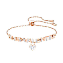 High Quality SWA New Gold Melt Heart-Shaped Colorful Womens Bracelet