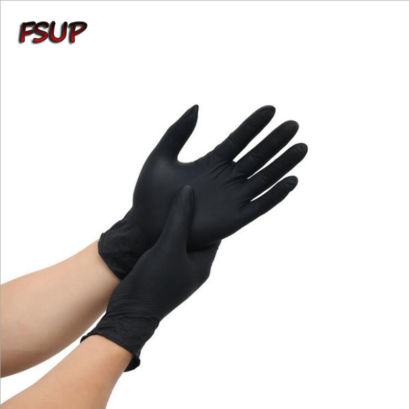 Disposable Nitrile Gloves 6pcs Work Safety Glove Food Cooking Gloves Kitchen Cleaning Household Garden Tattoo Beauty Mechanic