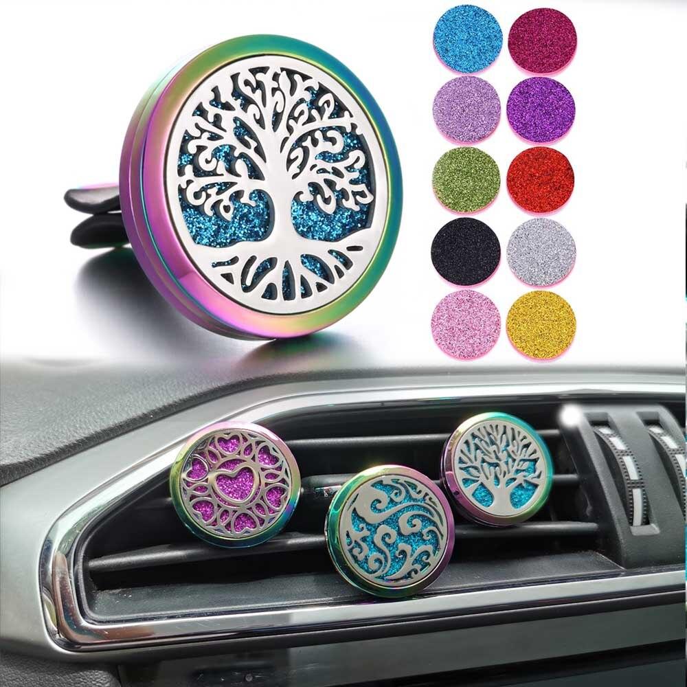 Novo Colorido Carro Clipe Auto Respiradouro de Ar Do Carro Ambientador de Carro Perfume Difusor Purificadores de Óleo Essencial Perfume Medalhão Dropshipping