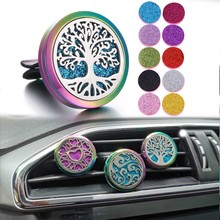New Colorful Car Air Freshener Perfume Diffuser Clip Auto Vent Essential Oil Locket Dropshipping