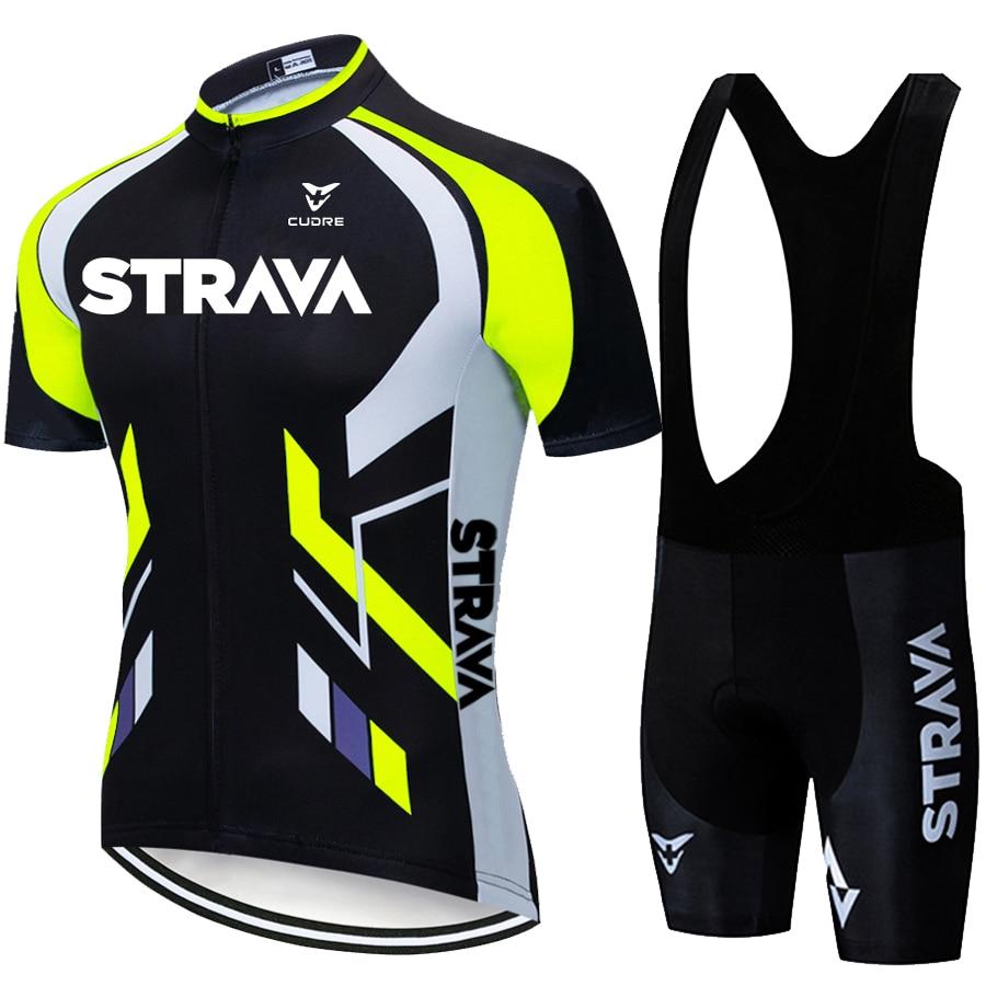 2020 командные трикотажные изделия STRAVA, велосипедная одежда, одежда, нагрудник, гелевые комплекты одежды, одежда для велоспорта, одежда для Ма...