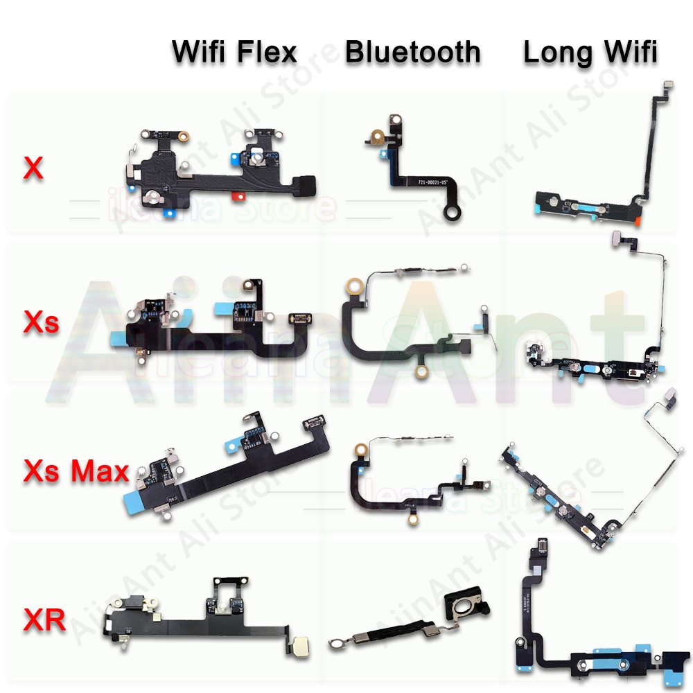 For IPhone X Xs Max XR Wifi Bluetooth NFC WI-FI GPS Signal Antenna Flex Cable Cover Original Replacement
