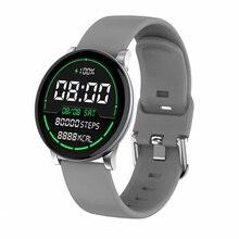 где купить Slim Body Fashion Smart Watch Band W9 IP68 Waterproof Heart Rate Blood Pressure Monitor Multi-sport Mode Smartwatch Men Women по лучшей цене