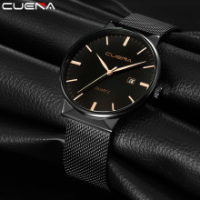 CUENA Fashion Sport Men's Watch Waterproof Wrist Watches Men Quartz Watch Ultra Thin Dial Clock Men Relogio Masculino dom ultra thin dial simple watch men leather minimalist casual quartz wrist watch water resistant men s wristwatches hodinky men