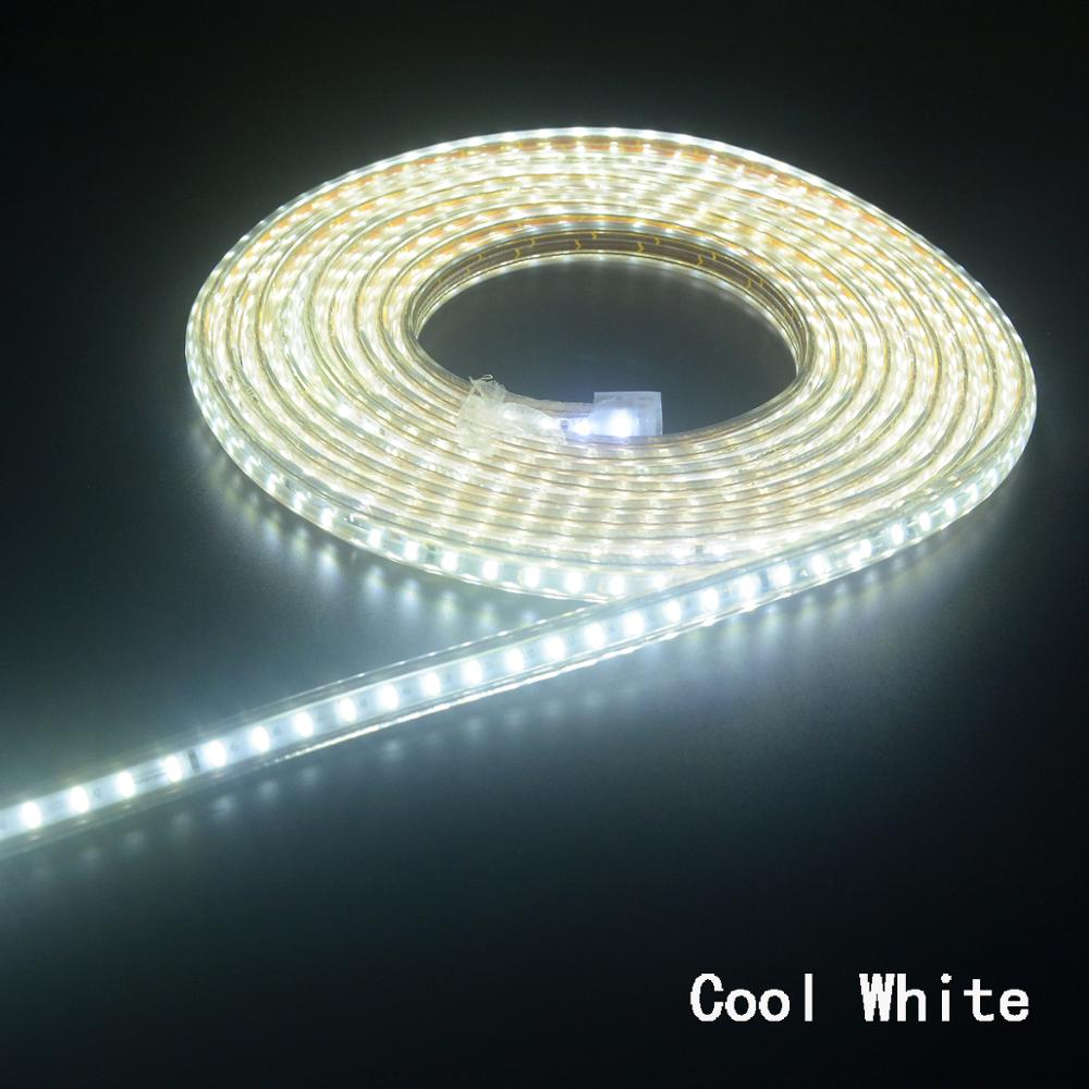 Super Bright LED Strip 220V IP67 Waterproof 120LEDs/M SMD 3014 Flexible Light + Power Plug  For Outdoor Garden Tape Rope