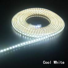 Super bright LED Strip 220V IP67 Waterproof 120LEDs/M SMD 3014 Flexible Light + Power Plug For outdoor garden tape rope(China)