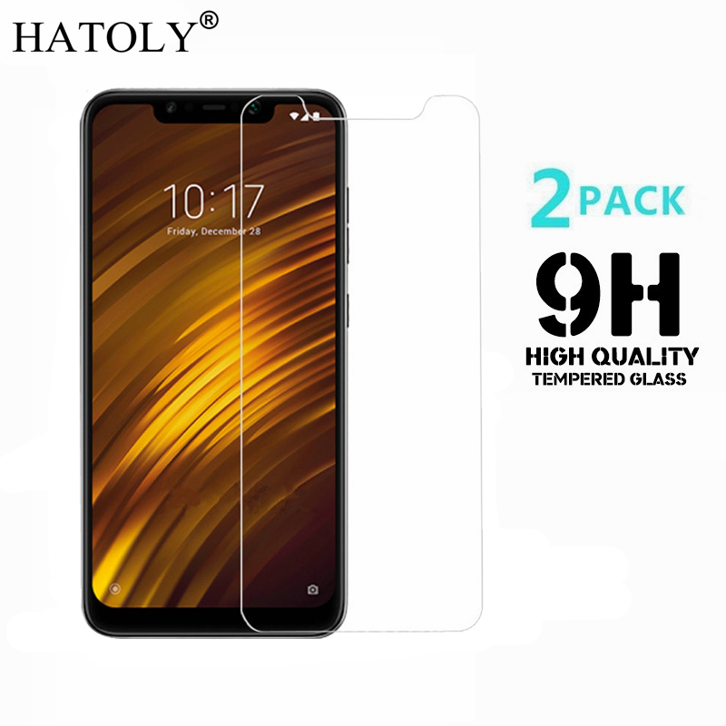 2PCS Tempered Glass Xiaomi Pocophone F1 Glass Ultra-thin Screen Protector For Xiaomi Pocophone F1 Film Xiaomi Little F1 HATOLY