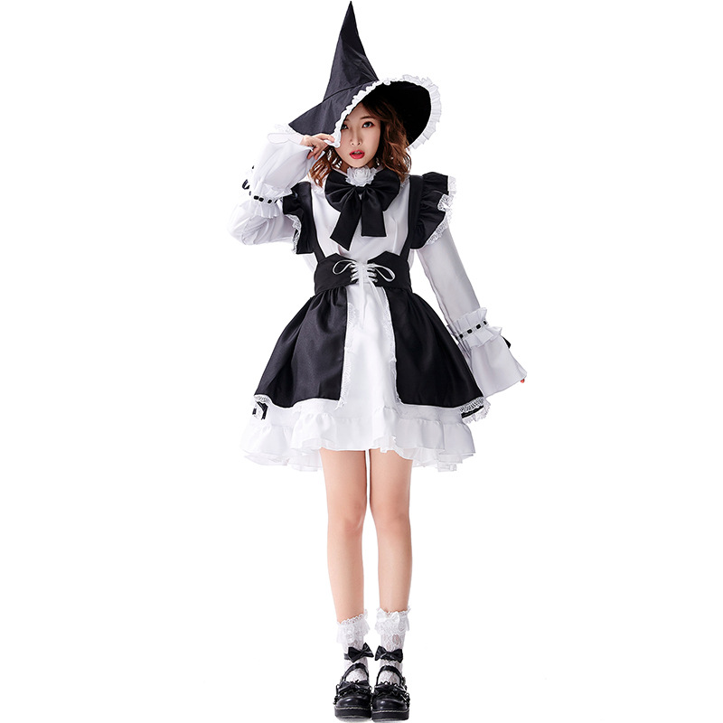 Lily Lolita Maid Dress Anime Cosplay Costume For Women And Men Two Colors Available