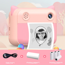Children Camera Instant Print Camera For Kids Camera 1080P HD Digital Camera with Photo Paper Child Toy Camera For Birthday Gift