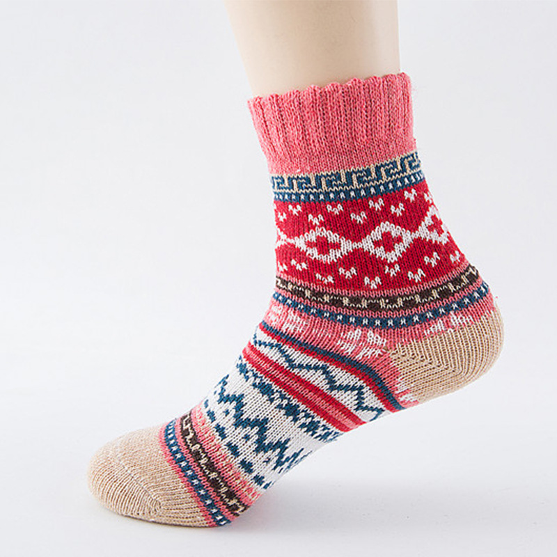 Women Socks Winter Canada Fuzzy  Cold Woolen Socks For Thicken Female Socks Long Warm Christmas Fitness Thermal Socks