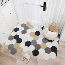 Nordic capacho tapete cozinha quarto banheiro sala de estar corredor entrada capacho não-deslizamento pode ser cortado diy tapetes tapete