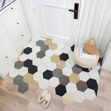 Скандинавский Придверный коврик, ковер для кухни, спальни, ванной, гостиной, прихожей, коридора, входной дверной коврик, нескользящий, можно ...