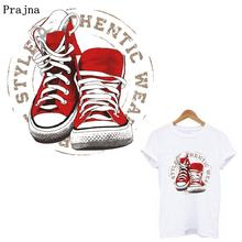 Prajña Cool Schoenen Ijzer Op Patches Voor Kleding Logo Badges On Jacket Patch Heat Transfers Voor T-shirt Thermische Stickers Diy patch(China)