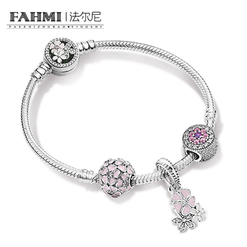 2020 100% 925 Sterling Silver 1:1 Brand New Original Natural Beauty ZT0164 Strings Bracelet Set Women Jewelry Gift Collection