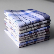 5 pcs Men plaid Handkerchiefs 100% Cotton with Stripe Hankies Gift Set Women Classic Handkerchief Pocket Hanky Pocket Squares
