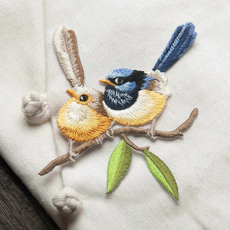 ציפור ברזל על תיקוני בגדי בעלי החיים של הפרת רקמת Applique DIY כובע מעיל שמלת מכנסיים אביזרי בד מדבקה