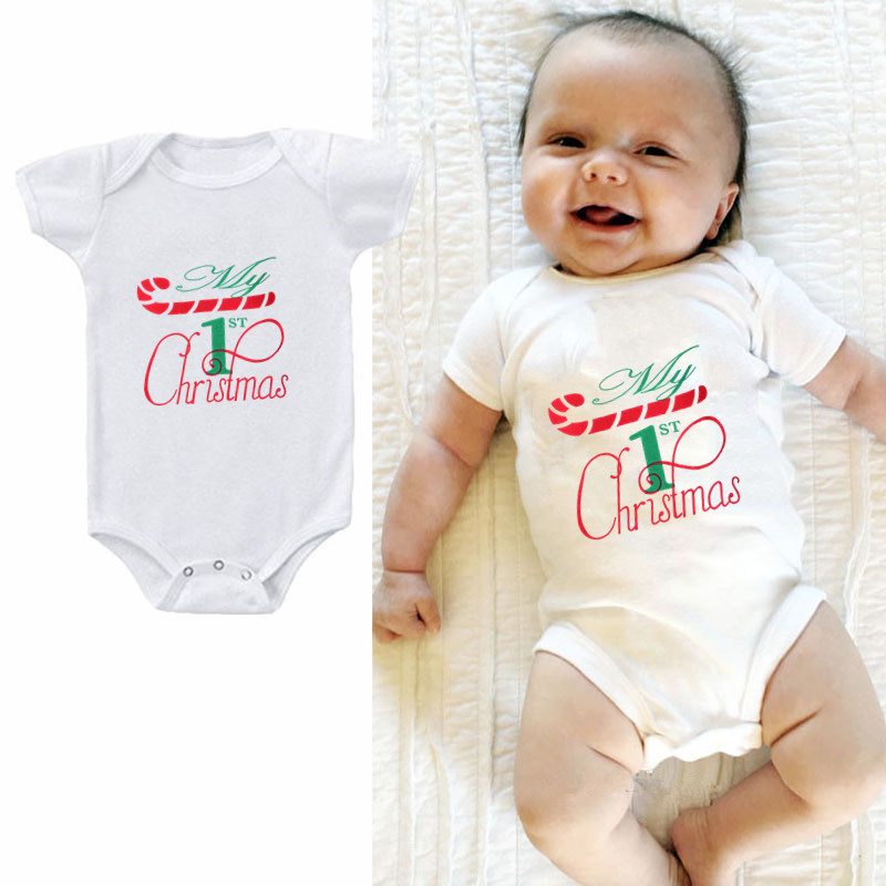 2019 My 1st Christmas Summer Newborn Onesie Infant Toddler Baby Boy Clothes Body Cotton Girls Body Jumpsuit Outfit Clothes
