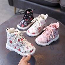 Zimowe dziewczęce bawełniane buty dziecięce śniegowce dziecięce buty zimowe oraz aksamitne dziecięce dziecięce bawełniane buty Martin buty