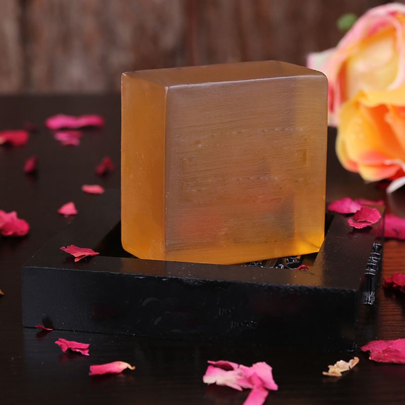100g 100g Natural Bee Honey Essential Oil Handmade Square Soap Face Skin Deep Cleaning Moisturizing Whitening Oil Control