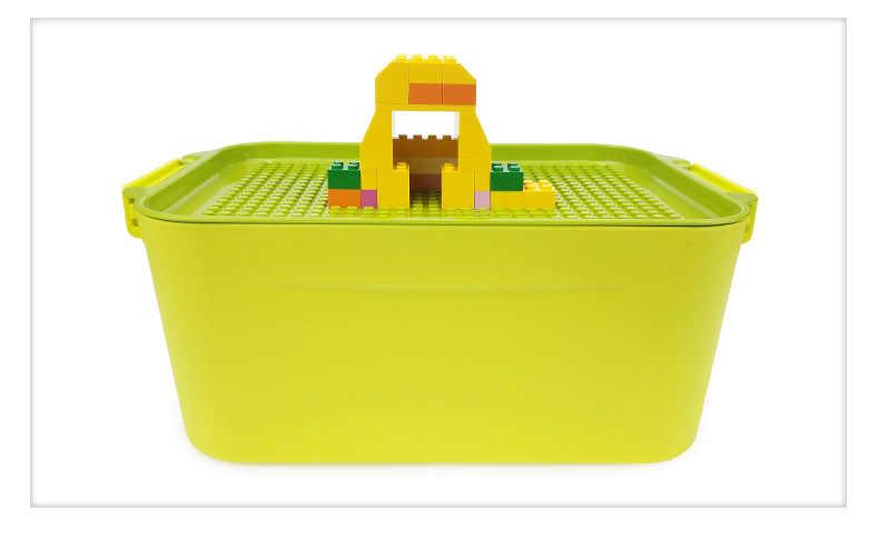 Yeni şeffaf plastik saklama kabı taban plakası 28X20 nokta Fit rakamlar toplu tuğla şehir yapı taşı kova oyuncaklar Diy çocuk hediye