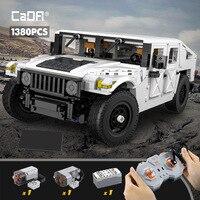 Cada 1380Pcs città telecomando fuoristrada SUV Building Blocks tecnico RC Racing Car veicolo mattoni giocattoli regalo per bambini ragazzi
