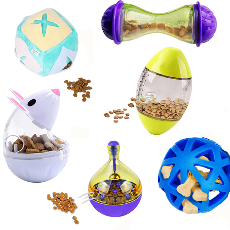 Pet Dog Food Feeder For Dog Cats Puzzle Toys Doggy Kitty Molars Feeder Captains For Pet Dogs Cat Chewing Toy Leaking Food Ball