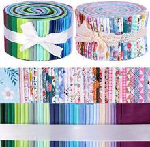 A geléia de dailylike 80 pces rola acima tiras estofando da tela do algodão, pacote da tela do ofício do algodão, tela estofando do algodão do ofício de retalhos